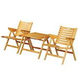 樂舒Lax 實木休閒折合桌椅組(1桌2椅/二色)