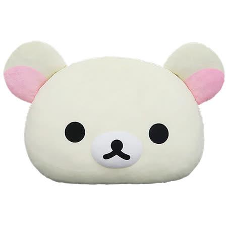 【享夢城堡】Rilakkuma拉拉熊 頭型抱枕 18吋(棕)(白)