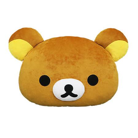 【享夢城堡】Rilakkuma 拉拉熊 頭型抱枕12吋 (棕)(白)