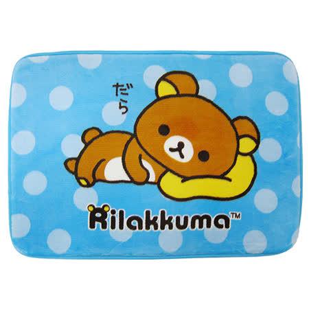 【享夢城堡】拉拉熊 睡懶覺 法蘭絨厚地墊(藍)(棕)(黃)