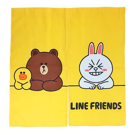 【享夢城堡】LINE FRIENDS 開心排排坐門簾