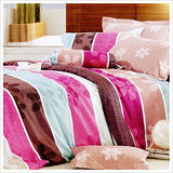 【精靈工廠】左岸光年雙人四件式純棉涼被床包組