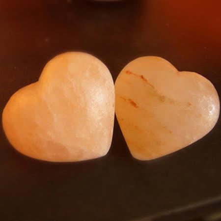 【Naluxe】玫瑰鹽心型按摩石-2入組