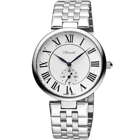 Standel 詩丹麗羅馬小秒針腕錶-白/銀 8S0232SS