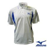 【Mizuno】男款短袖 POLO 衫 58HG-24001(白)