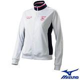 【Mizuno】女針織運動外套 56JL-21901(白*深丈青)