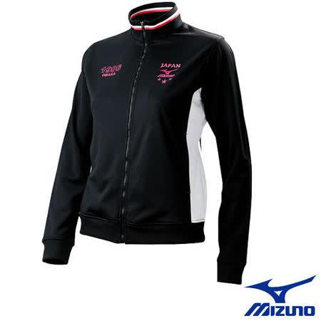 【Mizuno】女針織運動外套 56JL-21909(黑)