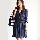 【韓系女衫】波西米亞風格雪紡修身連衣裙
