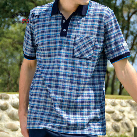 【FANTINO】100%棉舒適POLO衫(丈青寶藍) 331155