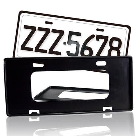 【安伯特】最新7碼汽車牌框(黑) (一組2入)