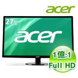 Acer宏碁 S271HL 27型 Full HD 高畫質 LED液晶螢幕