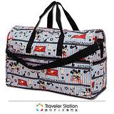 《Traveler Station》HAPI+TAS-Mickey&Minnie&Winnie the Pooh 摺疊圓形旅行袋(大)