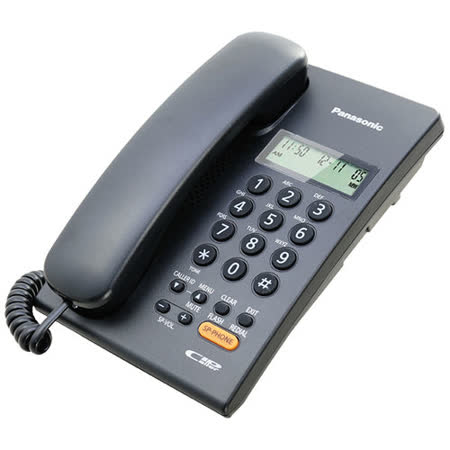 Panasonic國際牌免持擴音來電顯示有線電話KX-TSC62科技黑