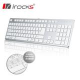 i-rocks IRK01-WNBK 巧克力超薄鏡面鍵盤(銀)