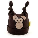 英國 Funky Feet 純棉手工保暖帽-猴子(咖) FF038025