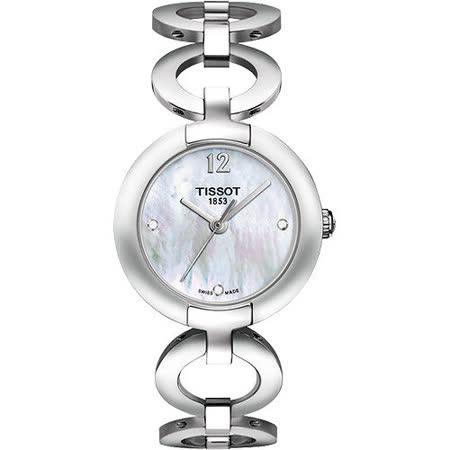 TISSOT Pinky粉紅佳人時尚腕錶-銀 T0842101111601