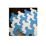 【新生活家】千鳥格組合地墊-炫亮藍白16入