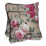 【范登伯格】薔薇浪漫風情雙面觸感舒適抱枕.強力推薦.二入組-50X50cm