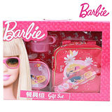 【芭比Barbie】芭比餐具組禮盒-桃紅