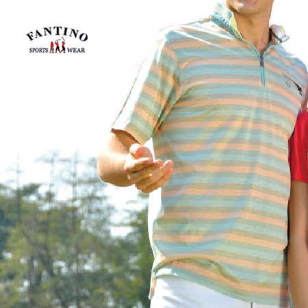 【FANTINO】男款 80支雙絲光棉衫(黃綠)331363