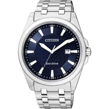 CITIZEN Eco-Drive GENT'S 時尚都會腕錶-藍/銀 BM7101-56L