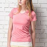 【MORINO摩力諾】抗UV透氣吸汗短袖衫-粉紅