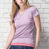 【MORINO摩力諾】抗UV透氣吸汗短袖衫-紫色