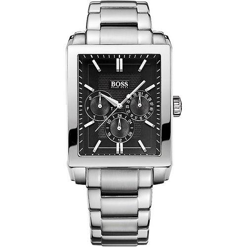 Hugo Boss 簡約沉穩日曆時尚腕錶-黑/銀 H1512891