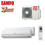 SAMPO聲寶 8-10坪x2一對二定頻單冷分離式冷氣(AM-PY45L*2/AU-PY4545)送安裝★七年保固