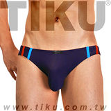 【TIKU 梯酷】~ 幻彩呼吸系列 竹纖維低腰三角男內褲 - 紫 (TH1226)