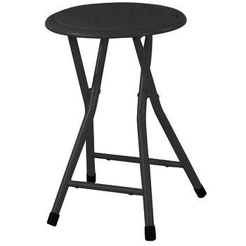 鐵管折合圓椅(1402-BK)W30*D30*H45CM