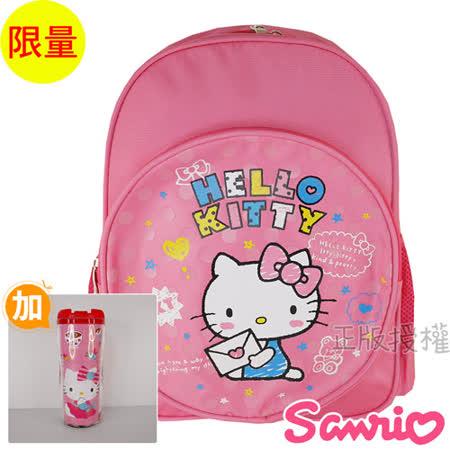 【Hello Kitty凱蒂貓】小可愛後背書包(紅色)