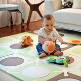 美國Skip Hop Playspot寶寶無毒遊戲地墊/安全EVA巧拼- 綠棕(台灣製)