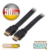 曜兆DIGITUS HDMI 1.4a 扁平線 平板線0.5m