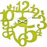 《KOZIOL》動物森林壁面時鐘(綠)