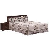 HAPPYHOME 玫瑰胡桃5尺布面雙人床組