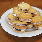 一口爆漿牛軋糖餅乾-蔓越莓口味 50片/1包