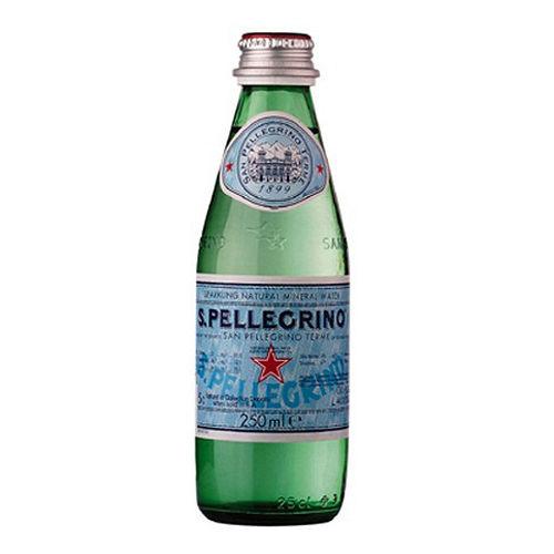 ~S.Pellegrino~聖沛黎洛氣泡礦泉水^(250mlx24入~玻璃瓶^)