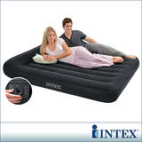 【INTEX】舒適型內建電動幫浦充氣床墊-雙人寬137cm-有頭枕