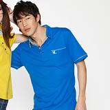 【LEIDOOE】斜紋領藍底男款短袖POLO衫 76168