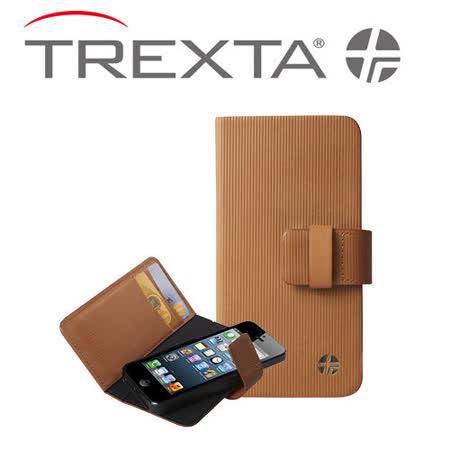 Trexta iPhone5 Rotating Folio 旋轉真皮皮套駝色