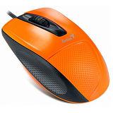 Genius DX-150 精確舒適手感光學滑鼠(橘色)