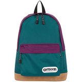 OUTDOOR 創意拼貼藍紫雙色後背包-藍紫