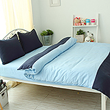 J‧bedtime【愛戀馬卡龍-薄荷奶昔】單人三件式防蹣抗菌被套床包組