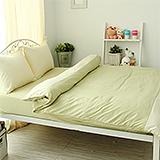 J‧bedtime【愛戀馬卡龍-萊姆乳酪塔】單人三件式防蹣抗菌被套床包組