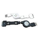 SCJ_三合一伸縮USB傳輸線 充電線 可用於行動電源