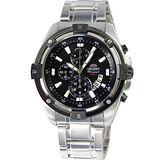 ORIENT 雷霆戰將三眼計時腕錶(黑-FTT0Y002B)