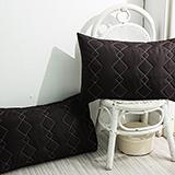 DUPARC【冰淇淋之戀-咖啡黑】防蹣抗菌保潔墊-枕頭專用(2入)