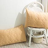 DUPARC【冰淇淋之戀-焦糖橘】防蹣抗菌保潔墊-枕頭專用(2入)