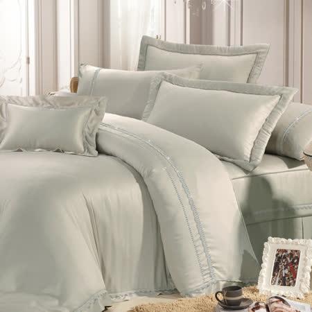 Lily Royal (卡其) 天絲 雙人四件式兩用被床包組